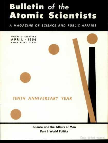 Bulletin of the Atomic Scientists - April 1956