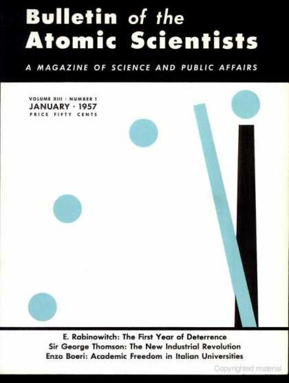 Bulletin of the Atomic Scientists - January 1957