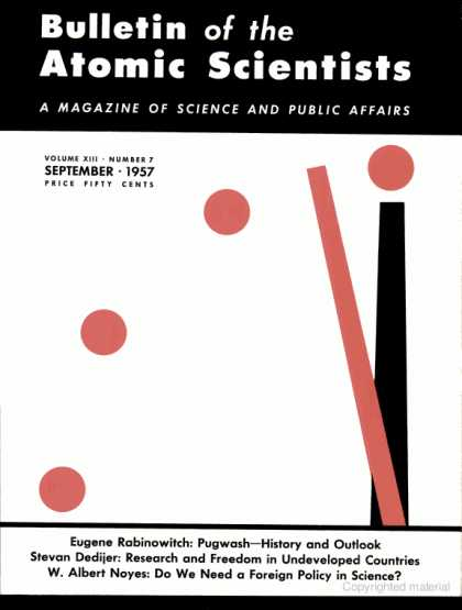 Bulletin of the Atomic Scientists - September 1957