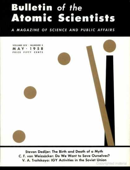 Bulletin of the Atomic Scientists - May 1958