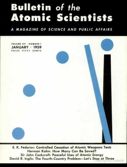 Bulletin of the Atomic Scientists - January 1959