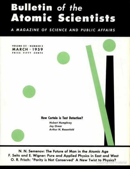 Bulletin of the Atomic Scientists - March 1959