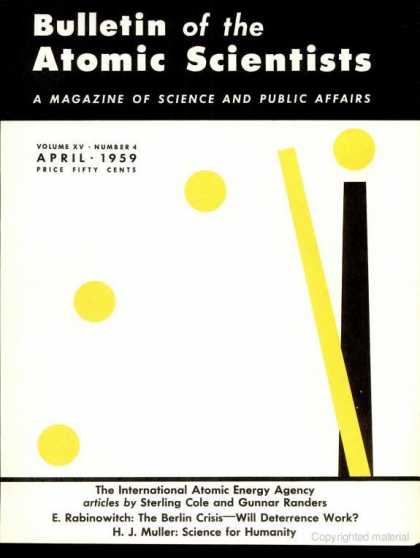 Bulletin of the Atomic Scientists - April 1959