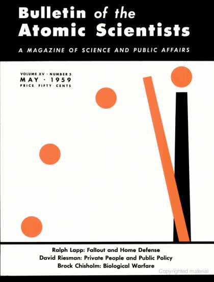 Bulletin of the Atomic Scientists - May 1959