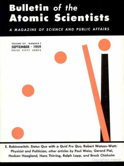Bulletin of the Atomic Scientists - September 1959