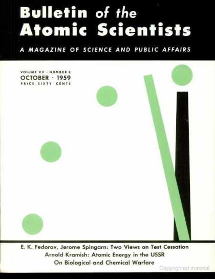 Bulletin of the Atomic Scientists - October 1959