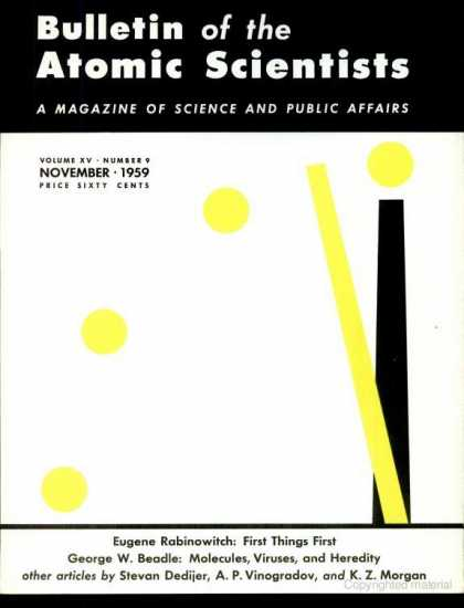 Bulletin of the Atomic Scientists - November 1959