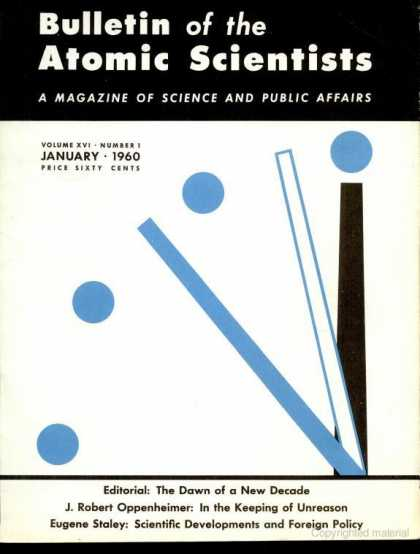 Bulletin of the Atomic Scientists - January 1960