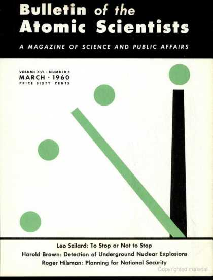 Bulletin of the Atomic Scientists - March 1960