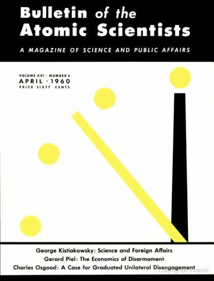 Bulletin of the Atomic Scientists - April 1960