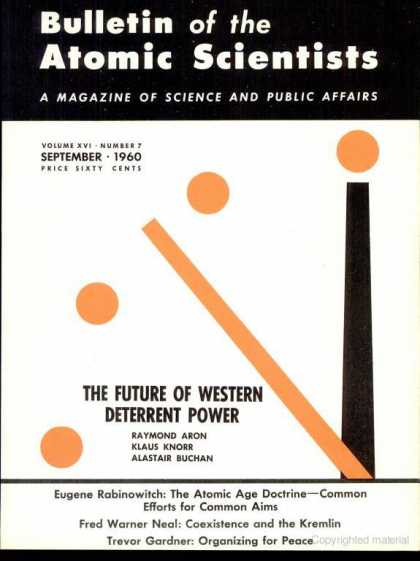 Bulletin of the Atomic Scientists - September 1960