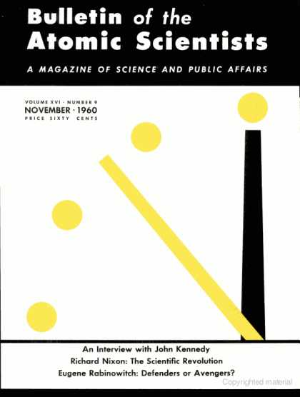 Bulletin of the Atomic Scientists - November 1960