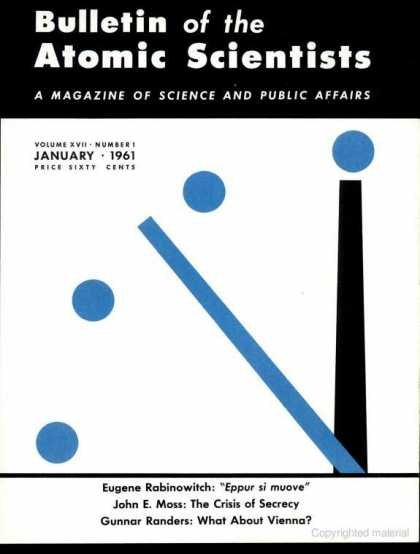 Bulletin of the Atomic Scientists - January 1961