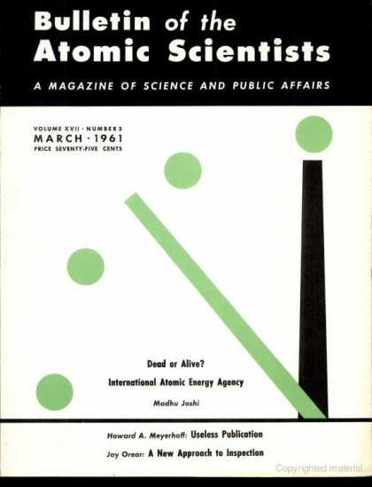 Bulletin of the Atomic Scientists - March 1961