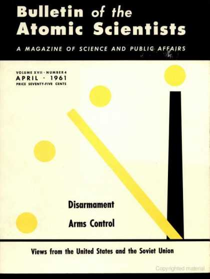 Bulletin of the Atomic Scientists - April 1961