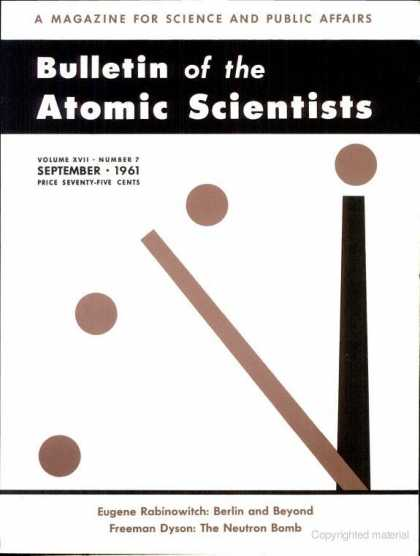 Bulletin of the Atomic Scientists - September 1961
