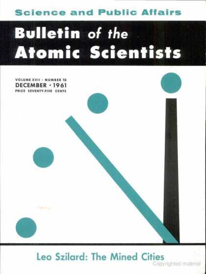 Bulletin of the Atomic Scientists - December 1961