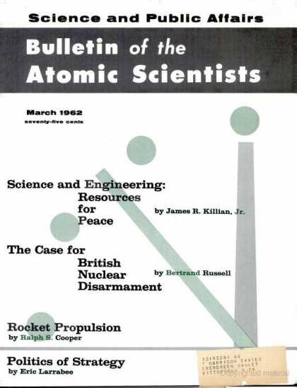 Bulletin of the Atomic Scientists - March 1962