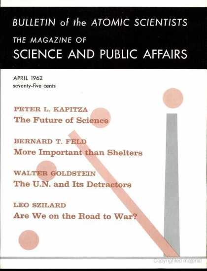 Bulletin of the Atomic Scientists - April 1962