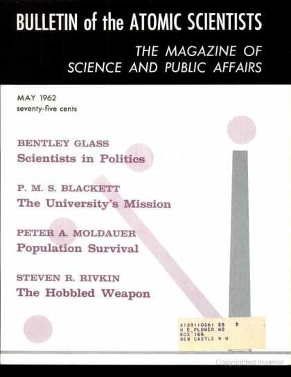 Bulletin of the Atomic Scientists - May 1962