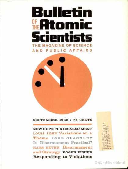 Bulletin of the Atomic Scientists - September 1962