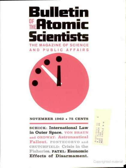 Bulletin of the Atomic Scientists - November 1962