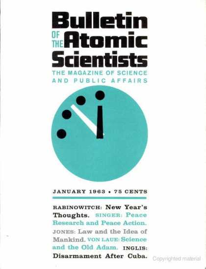 Bulletin of the Atomic Scientists - January 1963