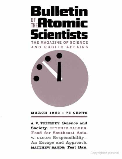 Bulletin of the Atomic Scientists - March 1963