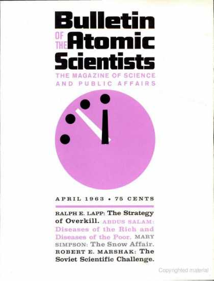 Bulletin of the Atomic Scientists - April 1963