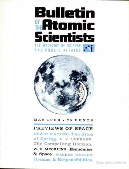 Bulletin of the Atomic Scientists - May 1963