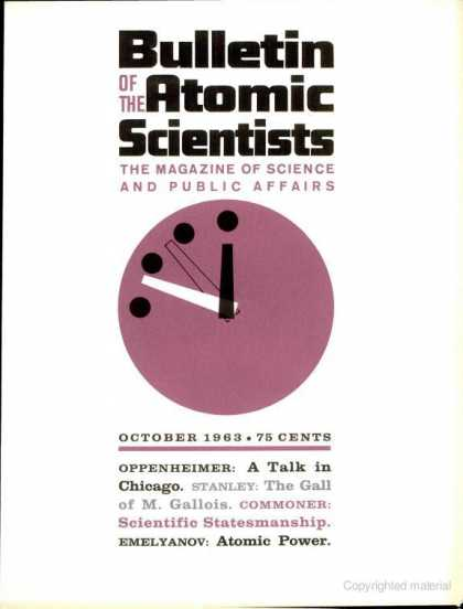 Bulletin of the Atomic Scientists - October 1963