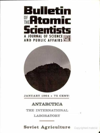 Bulletin of the Atomic Scientists - January 1964