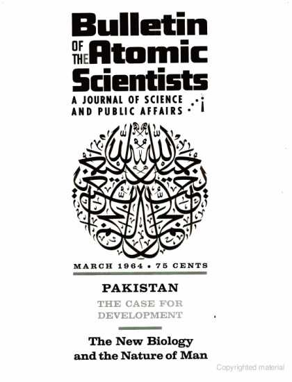 Bulletin of the Atomic Scientists - March 1964