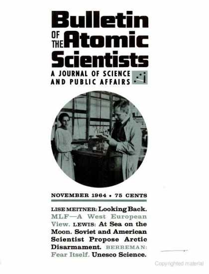 Bulletin of the Atomic Scientists - November 1964