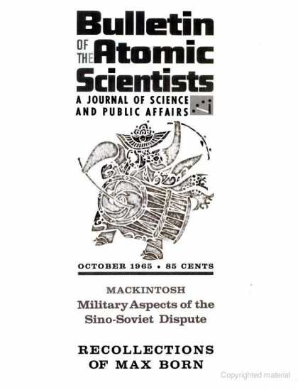 Bulletin of the Atomic Scientists - October 1965