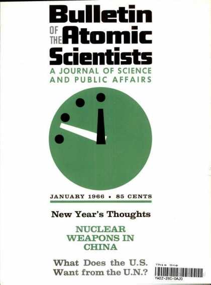 Bulletin of the Atomic Scientists - January 1966