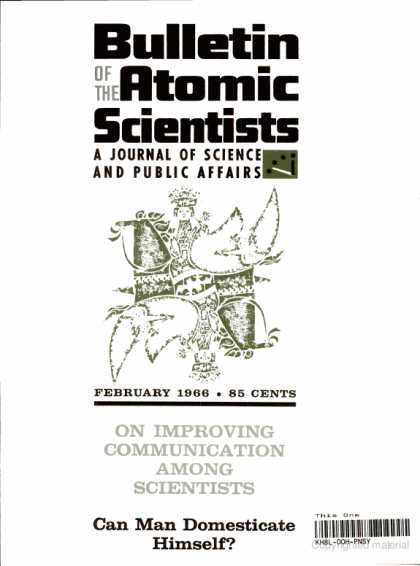 Bulletin of the Atomic Scientists - February 1966