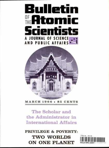 Bulletin of the Atomic Scientists - March 1966
