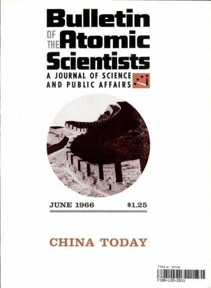 Bulletin of the Atomic Scientists - June 1966