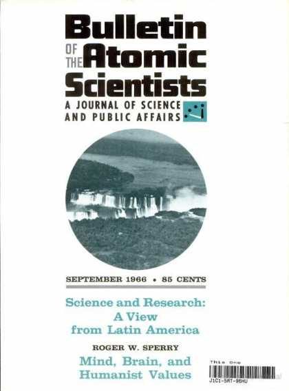 Bulletin of the Atomic Scientists - September 1966