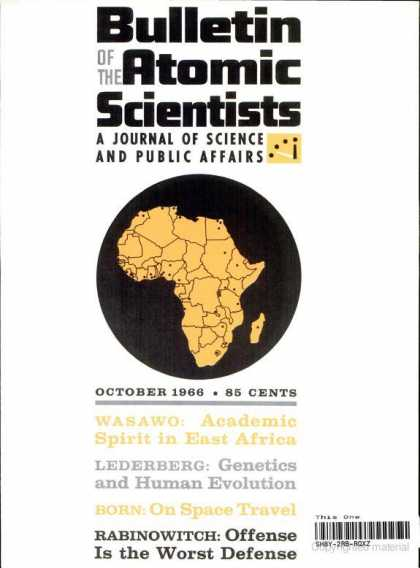 Bulletin of the Atomic Scientists - October 1966