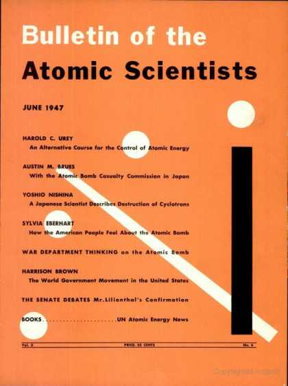 Bulletin of the Atomic Scientists - June 1947