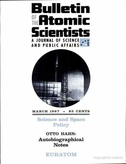 Bulletin of the Atomic Scientists - March 1967