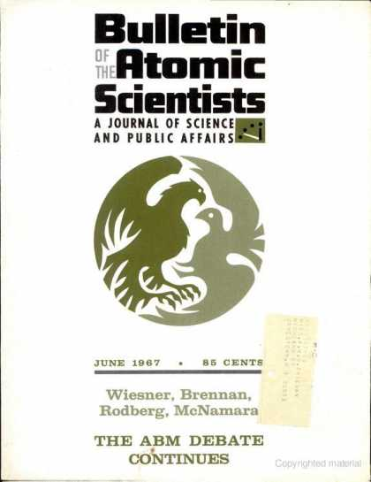Bulletin of the Atomic Scientists - June 1967