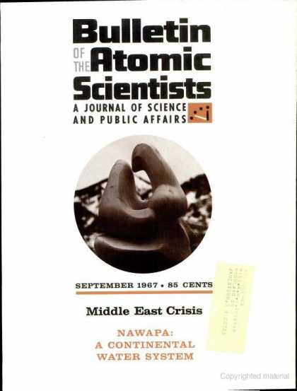 Bulletin of the Atomic Scientists - September 1967
