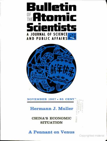 Bulletin of the Atomic Scientists - November 1967