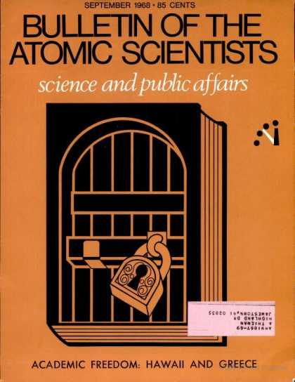 Bulletin of the Atomic Scientists - September 1968