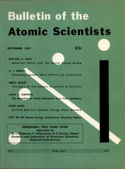 Bulletin of the Atomic Scientists - September 1947
