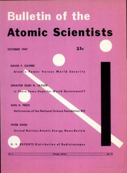 Bulletin of the Atomic Scientists - October 1947