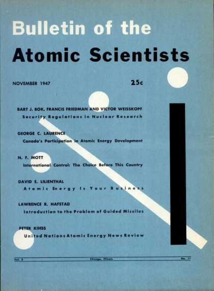 Bulletin of the Atomic Scientists - November 1947